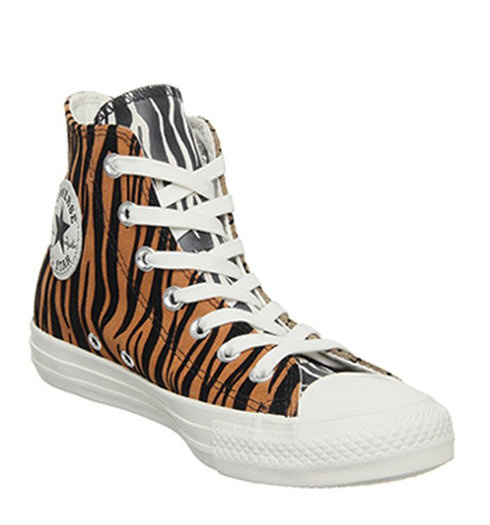 76f11db22f04 Launching 11-04-2019 · Converse Converse All Star Hi Trainers Brown Orange  Egret Animal Exclusive