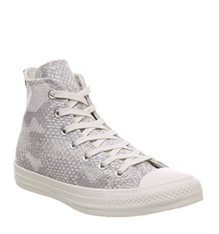 476351020293 Launching 11-04-2019 · Converse Converse All Star Hi Trainers Egret Brown  Snakeprint Animal Exclusive