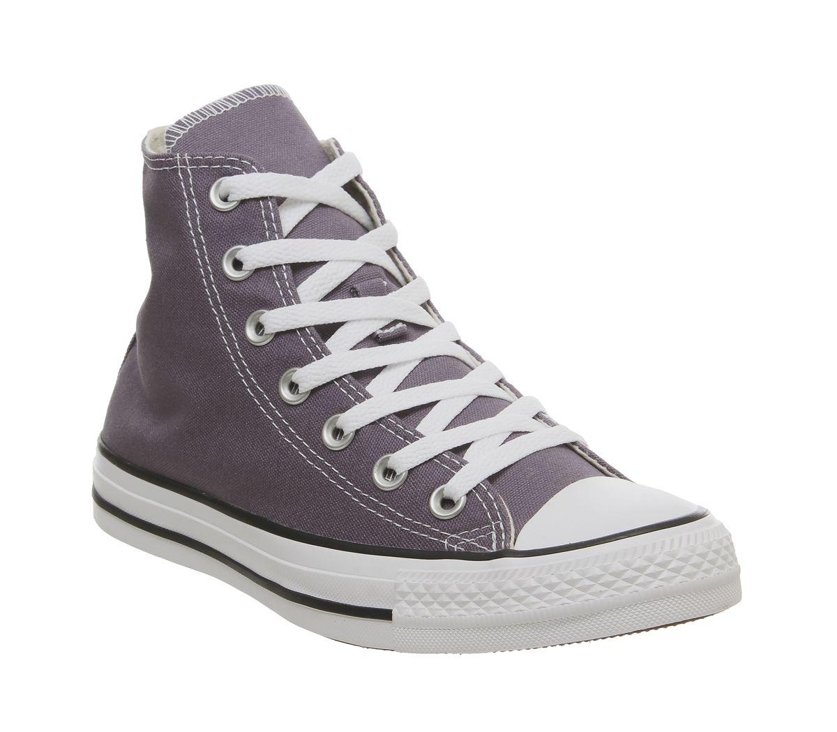 ed44fcb87e Converse Converse All Star Hi Trainers Moody Purple White - Unisex ...