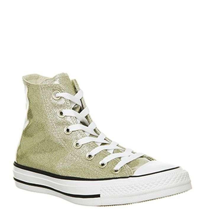 15c1513ac12959 Quickbuy. 05-11-2018 · Converse Converse All Star Hi Trainers Light Gold  White