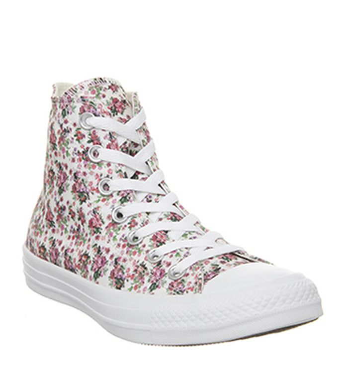 cfc405dd77ceb4 12-03-2019 · Converse Converse All Star Hi Trainers Pink Foam Egret White  Floral. was £59.99 NOW £45.00