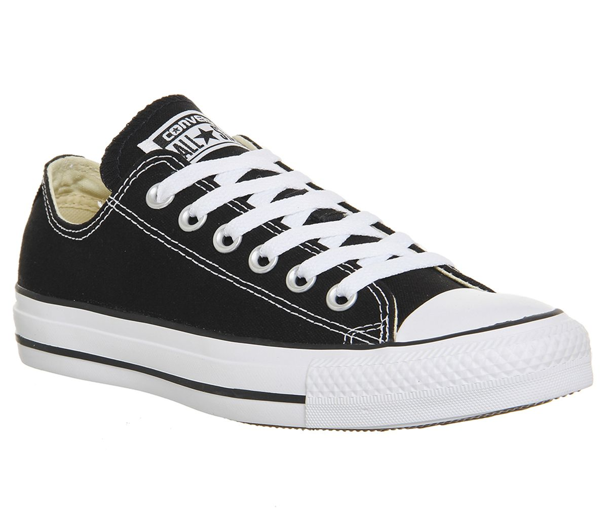 cf19234ab42981 Converse All Star Low Black Canvas - Unisex Sports