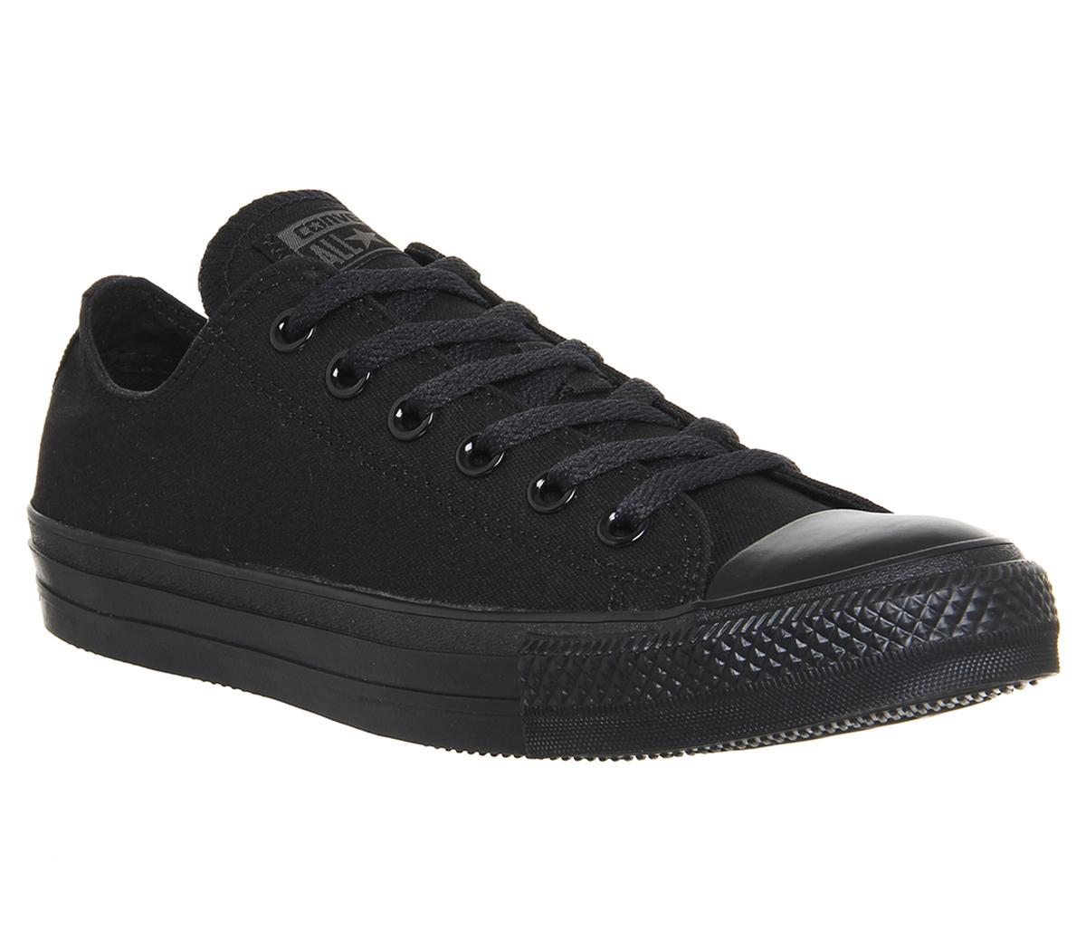 b631a6e90a70 Converse All Star Low Black Mono Canvas - Unisex Sports