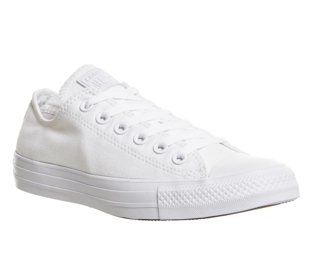 c76ae569f9ed Converse All Star Low White Mono Canvas - Unisex Sports