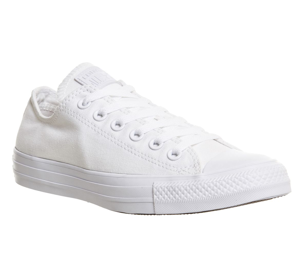 5dea8a9cce3e Converse All Star Low White Mono Canvas - Unisex Sports