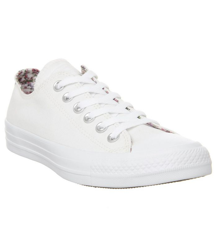 a9f68d1532d7d7 Converse All Star Low Leather White Mono Leather - Unisex Sports