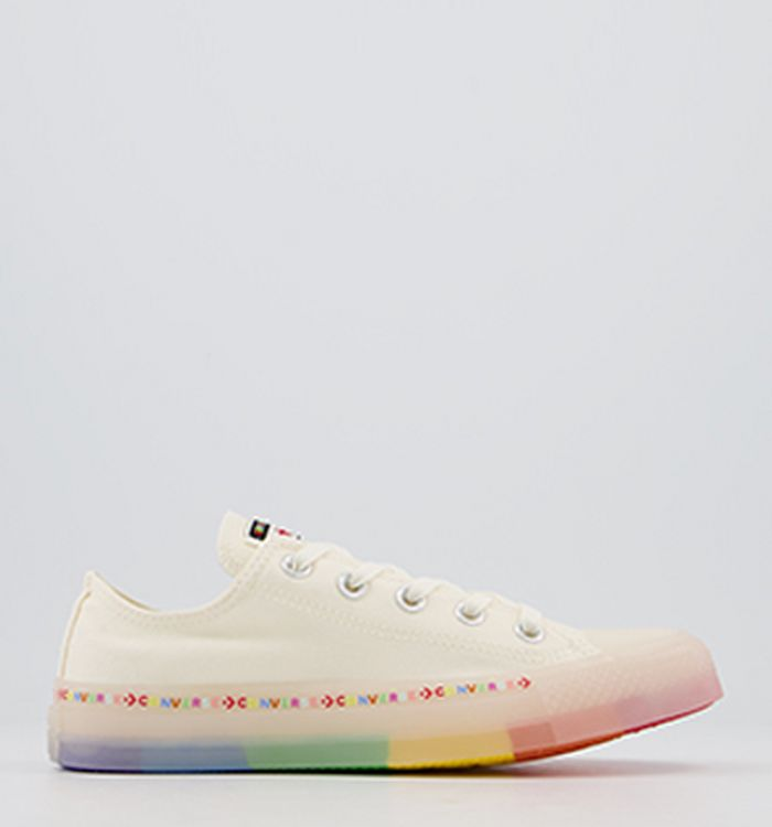 cc713d867285 Launching 09-05-2019 · Converse Converse All Star Low Trainers Egret White  Rainbow Exclusive