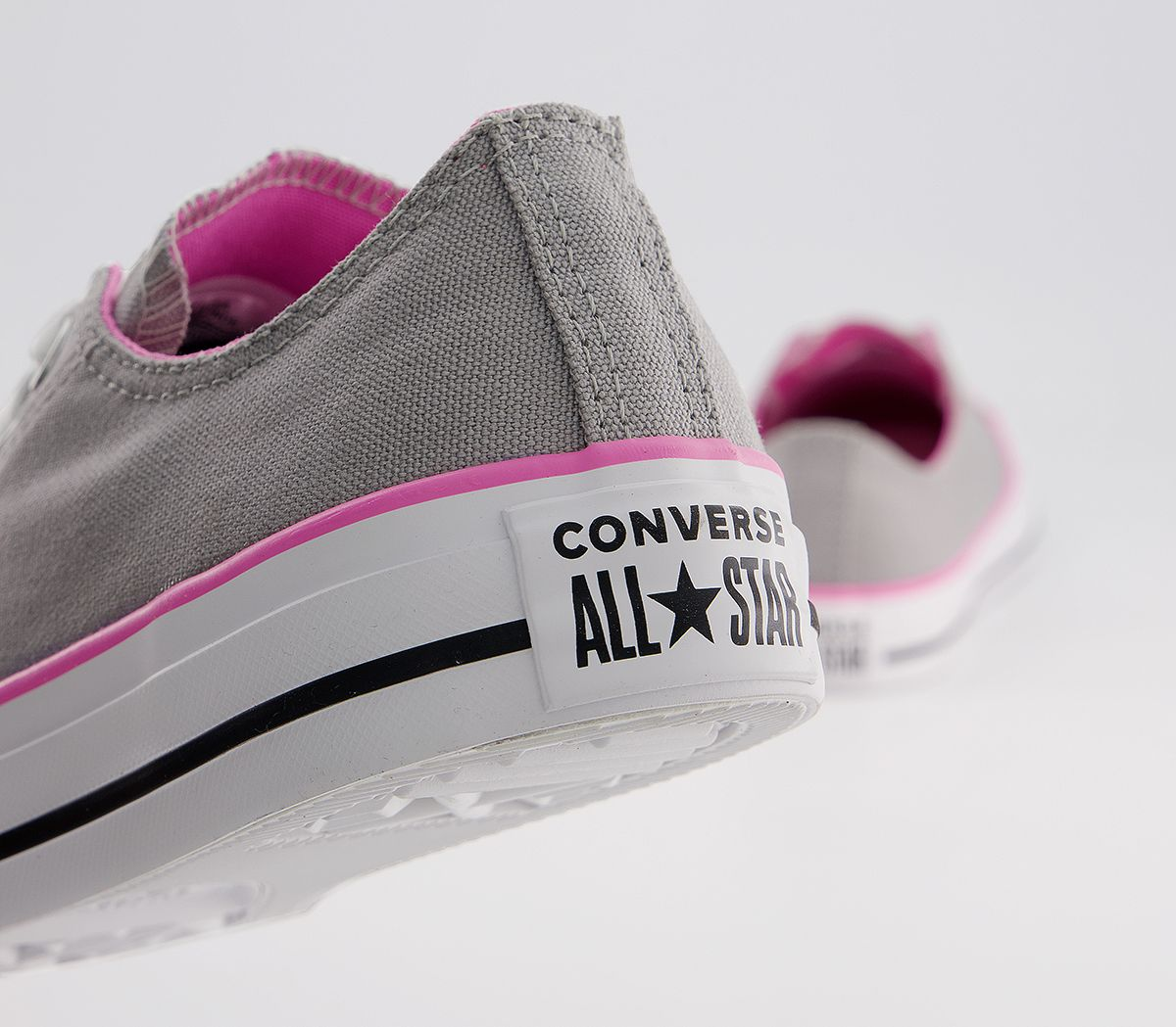 6f99a2f9595a Converse Converse All Star Low Trainers Grey Pink - Hers trainers
