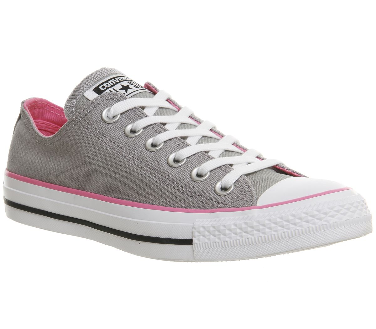 958ba507364541 Converse Converse All Star Low Trainers Grey Pink - Hers trainers