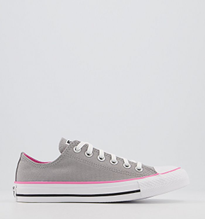 76e0e06aa796 05-05-2017 · Converse Converse All Star Low Trainers Grey Pink