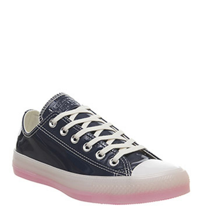 4e10fc528a43de Launching 11-04-2019 · Converse Converse All Star Low Trainers Navy White  90s Pink Ice Exclusive