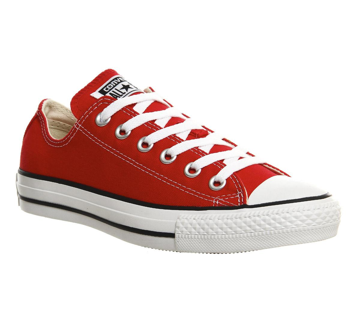 96b0a4ff01de Converse All Star Low Red Canvas - Unisex Sports
