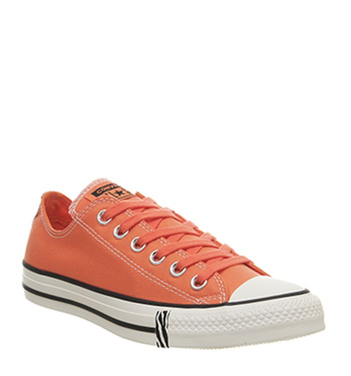 ed19503b616b Launching 11-04-2019 · Converse Converse All Star Low Trainers Turf Orange  Egret Black Animal Exclusive