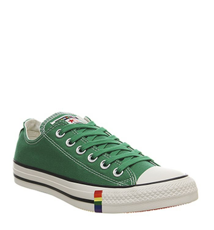 281b60cee70 Launching 09-05-2019 · Converse Converse All Star Low Trainers Green Egret  Rainbow Exclusive