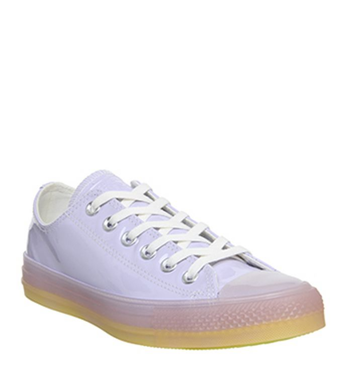 f02adf637bef33 Launching 11-04-2019 · Converse Converse All Star Low Trainers Oxygen  Purple White Fresh Yellow ...