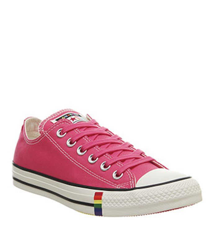 reputable site 57498 10f46 Launching 09-05-2019 · Converse Converse All Star Low Trainers Strawberry  Jam Egret Rainbow Exclusive