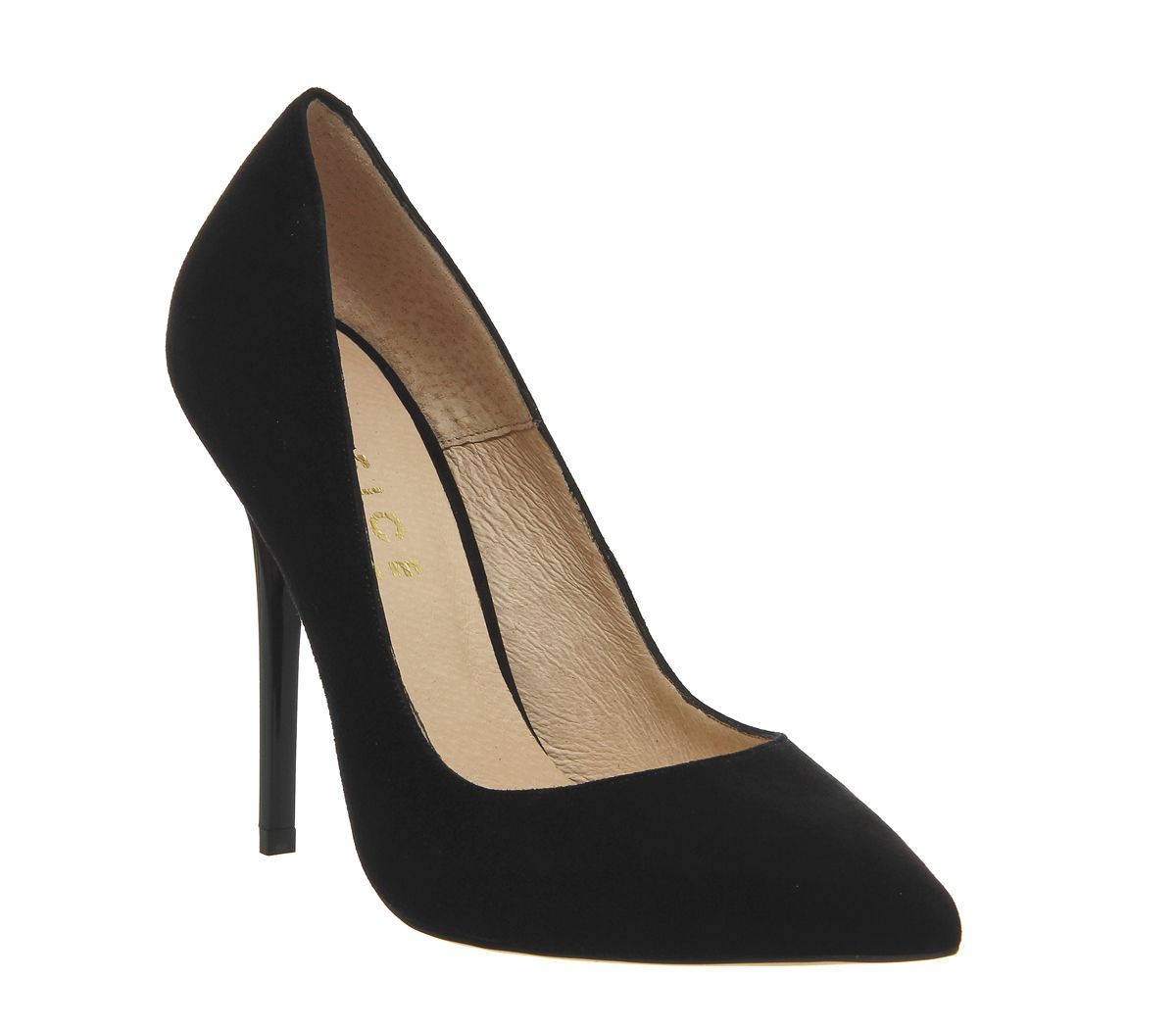 ad451e48d2780 Office On To Point Court Heels Black Suede - High Heels
