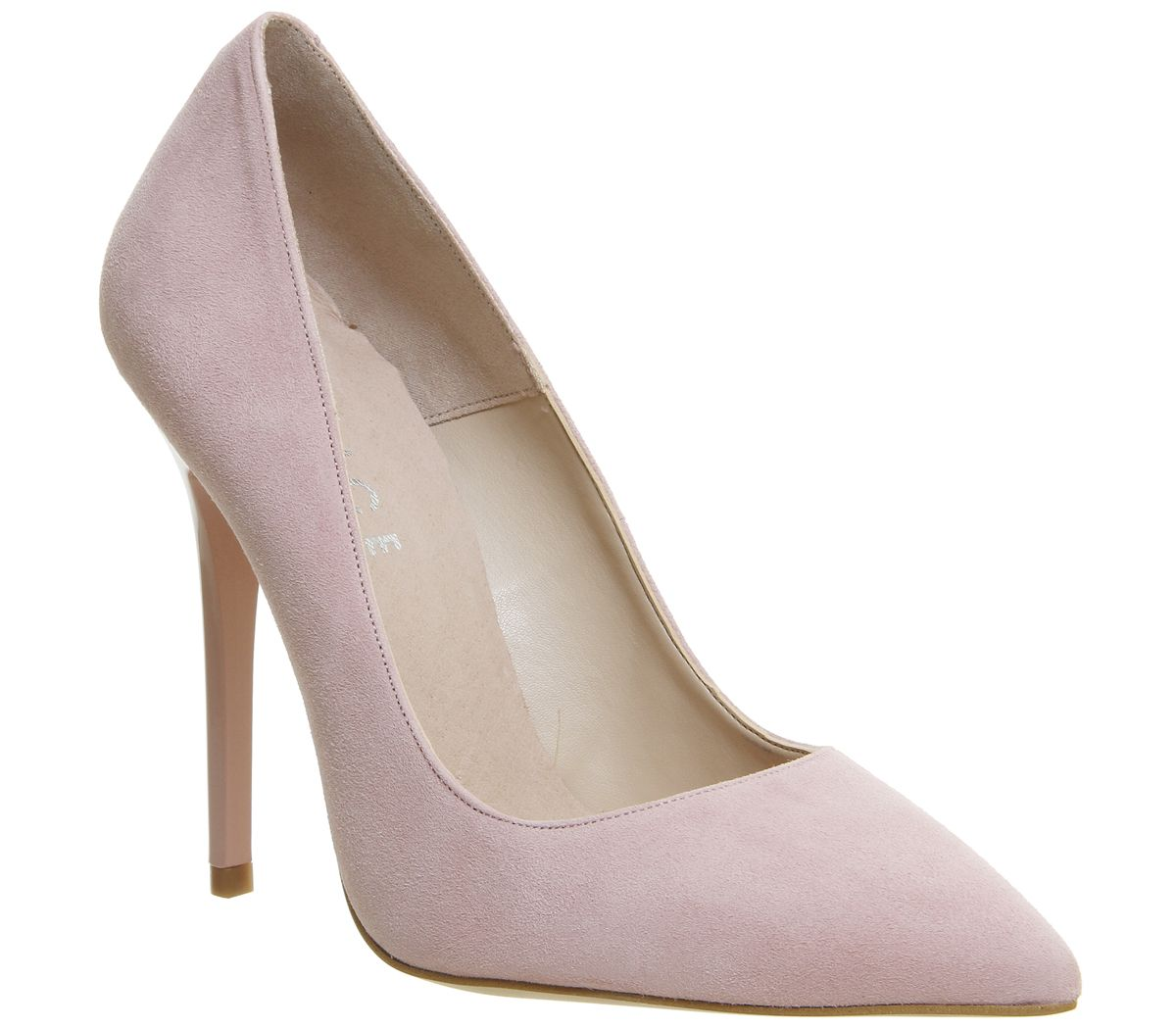 0e117f9b8f Office On To Point Court Heels Light Pink Kid Suede - High Heels