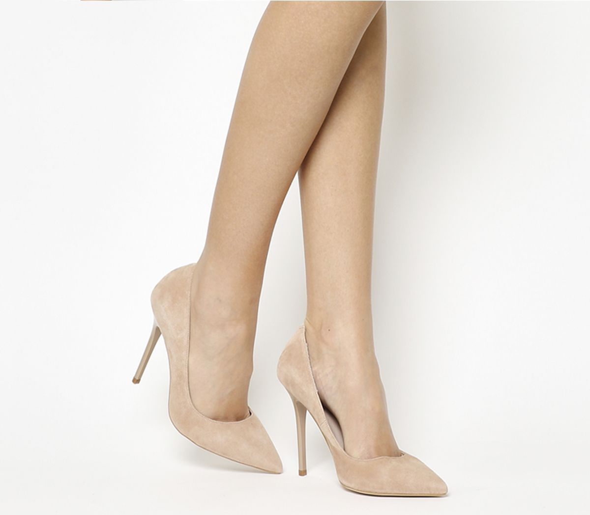 e7a506443878 Office On To Point Court Heels Nude Kid Suede - High Heels