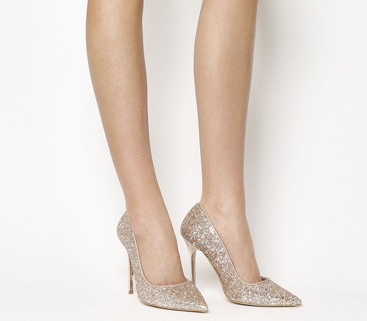 091ef0a705c7 Office On To Point Court Heels Rose Gold Glitter - High Heels