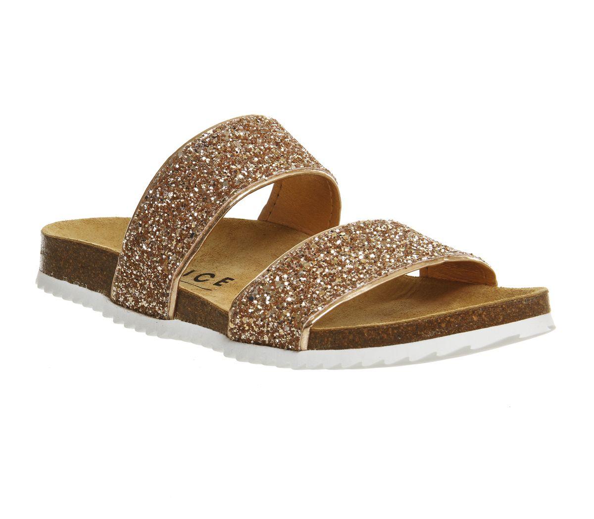d7e031c55 Office Oslo 2 Sandals Rose Gold Glitter - Sandals