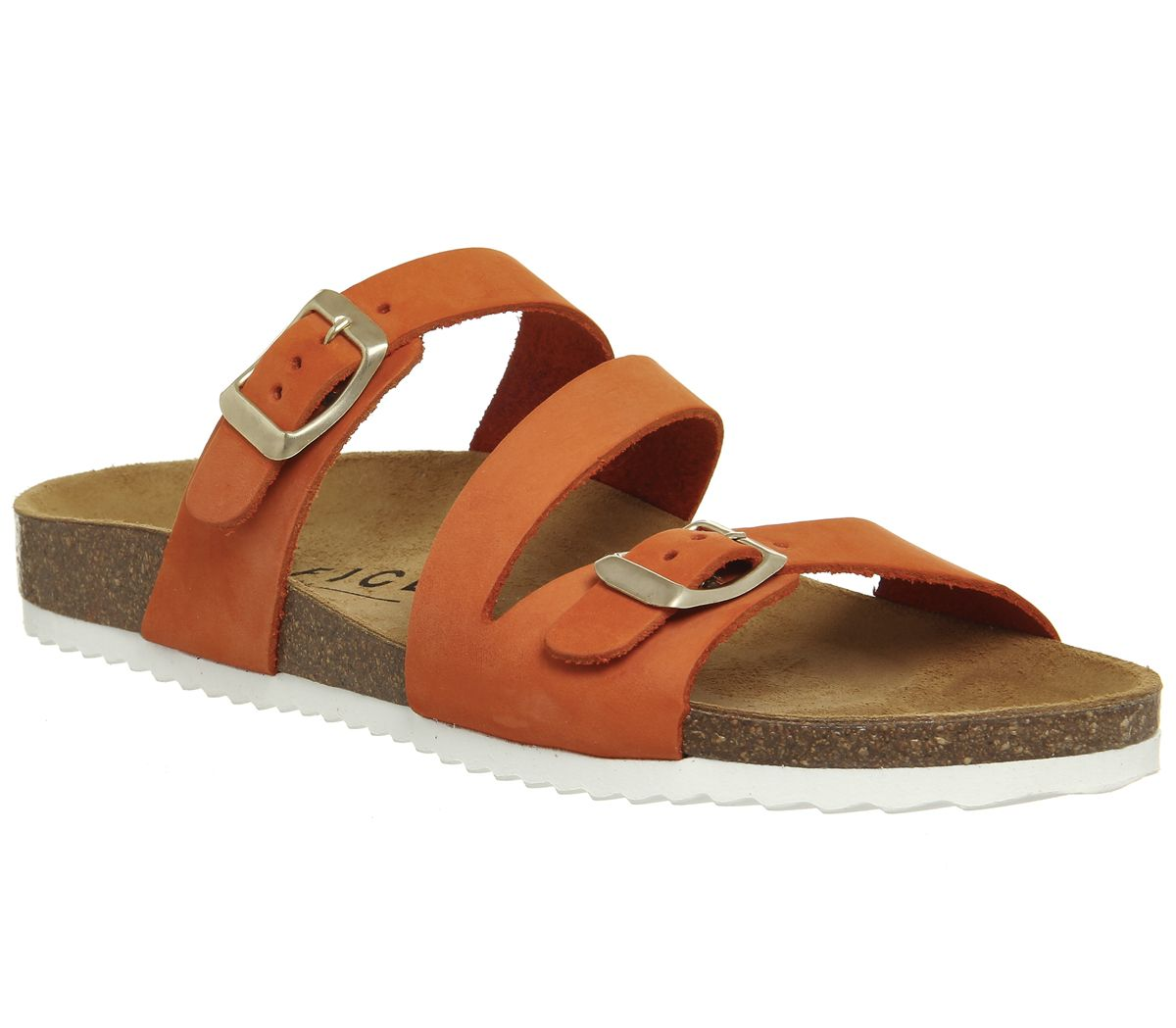 aedca0bb9c Office Bounty Cross Strap Footbed Sandals Orange Nubuck - Sandals
