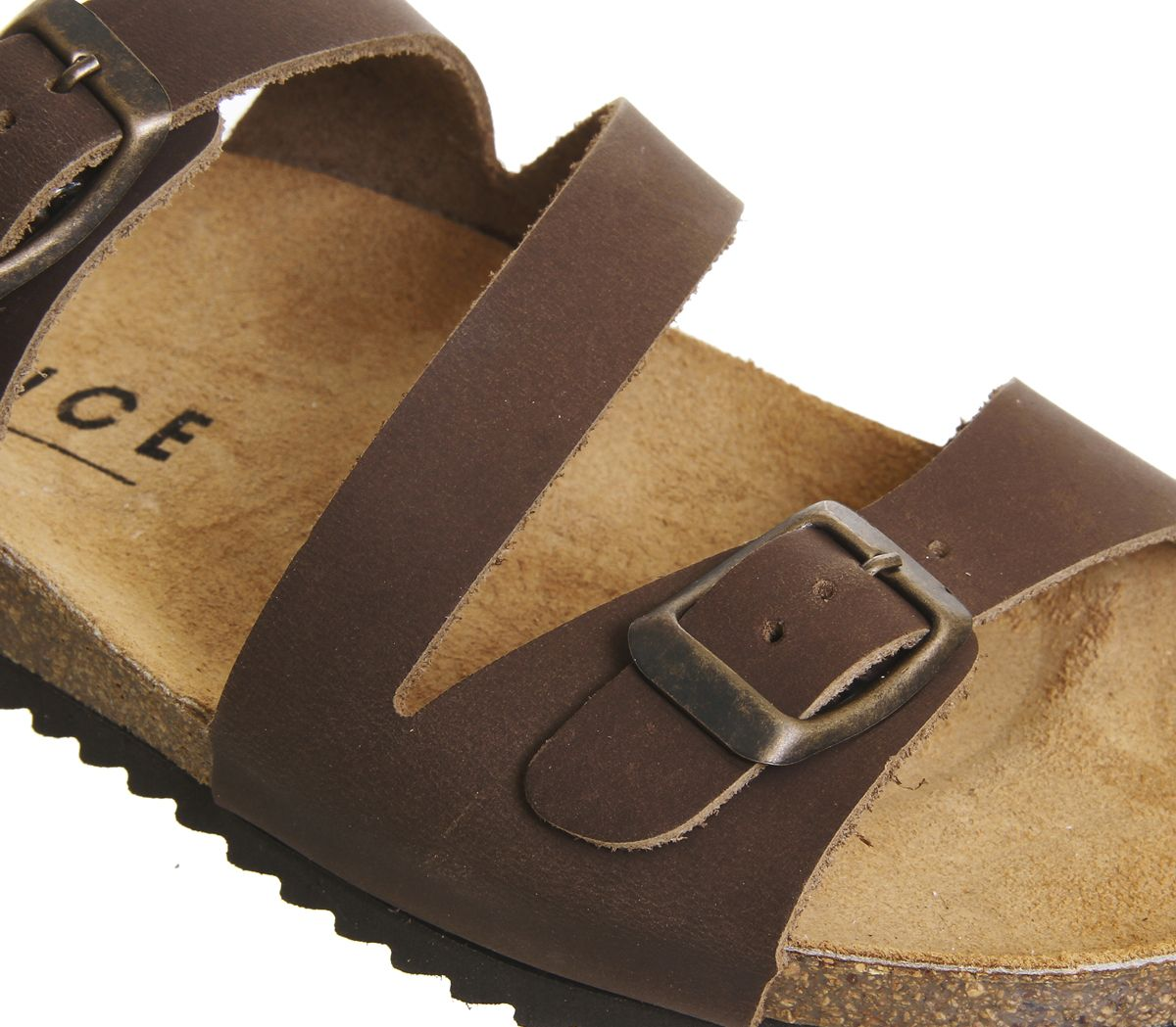 4cffb970d3 Office Bounty Cross Strap Footbed Sandals Brown Leather - Sandals