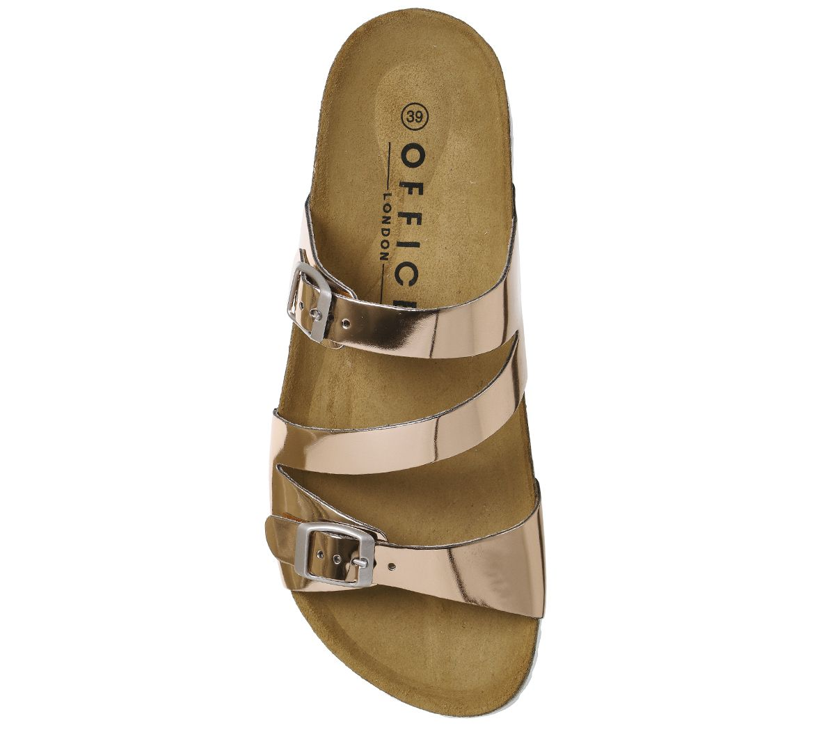 a86ddb71b9af Office Bounty Cross Strap Footbed Sandals Rose Gold - Sandals