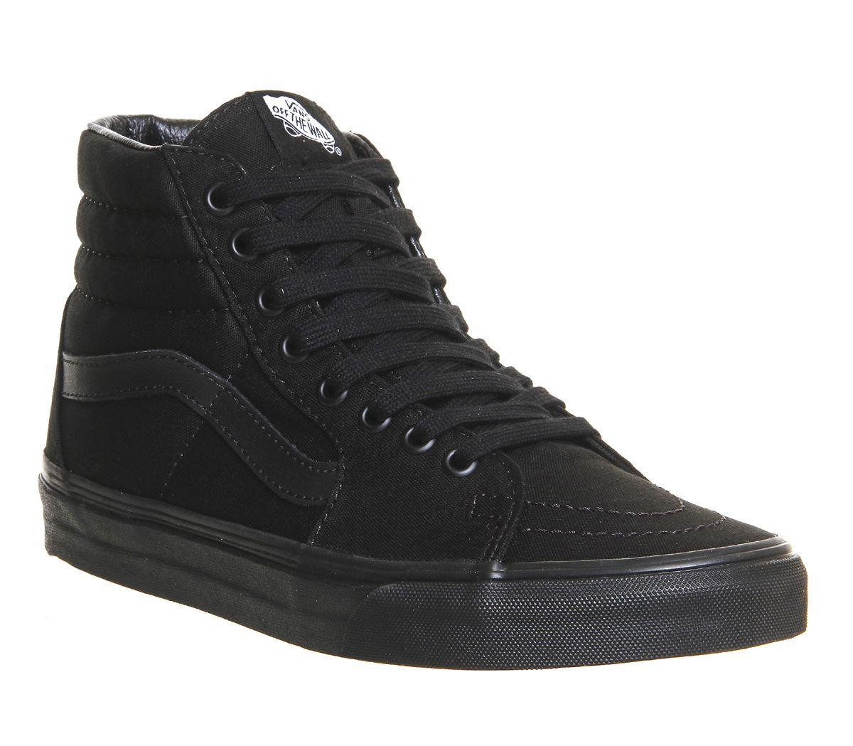 3586b30f2e Vans Sk8 Hi Black Mono - Hers trainers