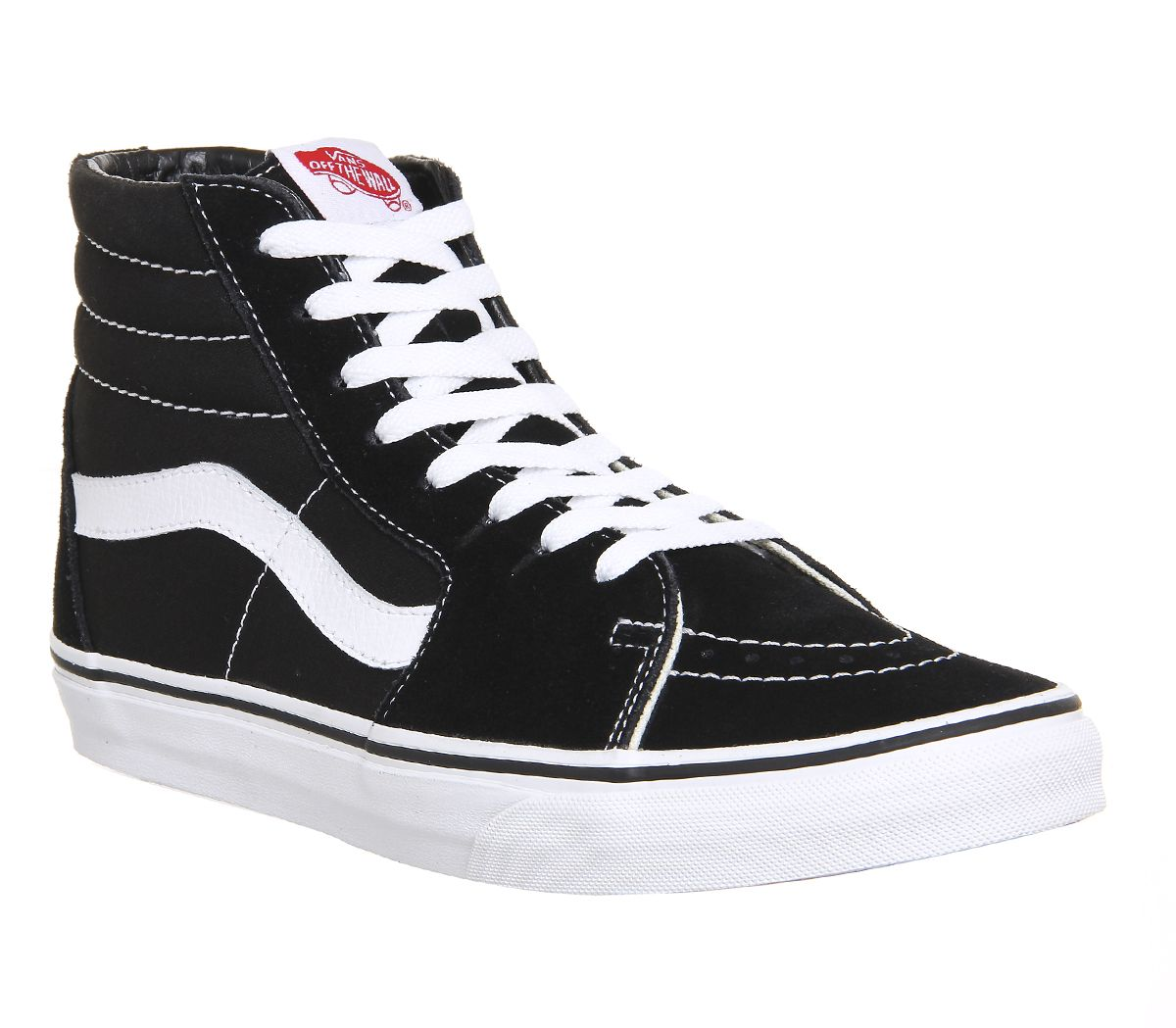 ca2457e394 Vans Sk8 Hi Black White Canvas - Office Girl
