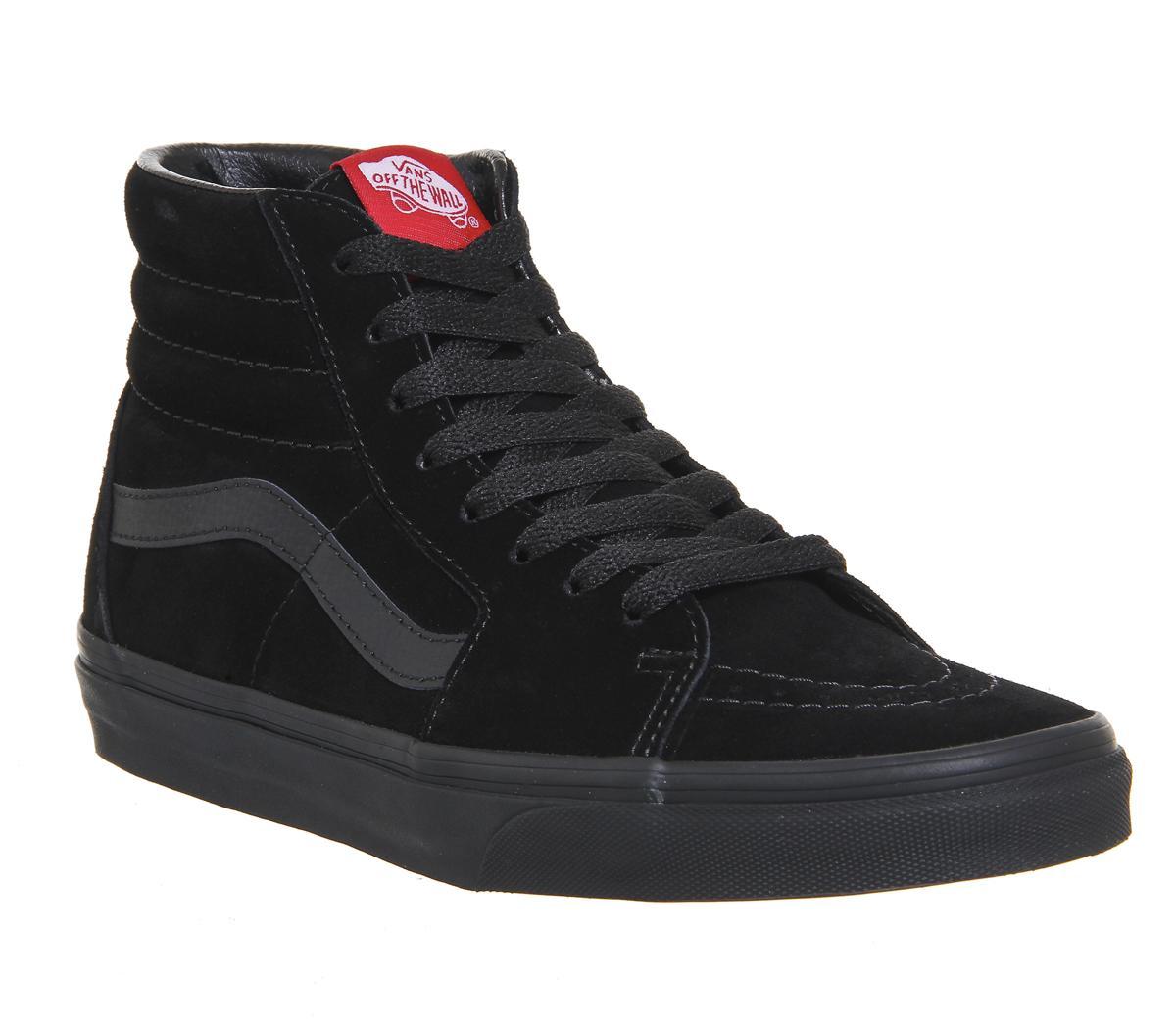 9ca146441f15 Vans Sk8 Hi Black Suede Mono - Hers trainers