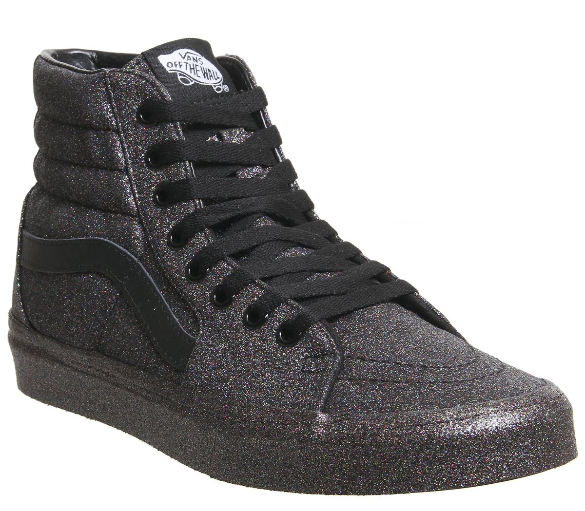 ed82dc88fe3 Vans Sk8 Hi Trainers Black Black Rainbow Glitter - Hers trainers