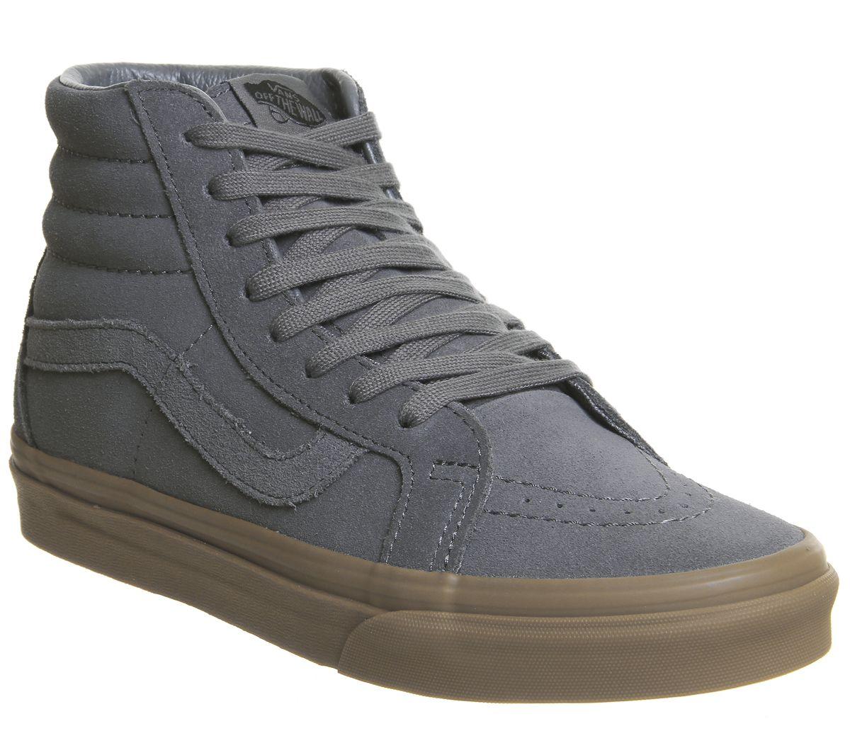 7f10dcb31dca7e Vans Sk8 Hi Trainers Grey Suede Gum Exclusive - Unisex Sports