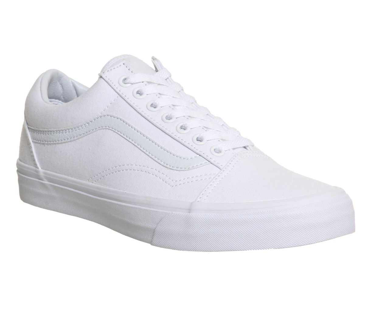 2c30126d5ab7 Vans Old Skool Canvas Trainers White Mono - Unisex Sports