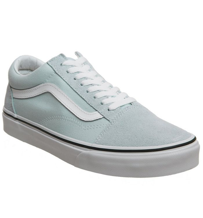 81a2e79537 Vans Old Skool Trainers Baby Blue True White - Hers trainers