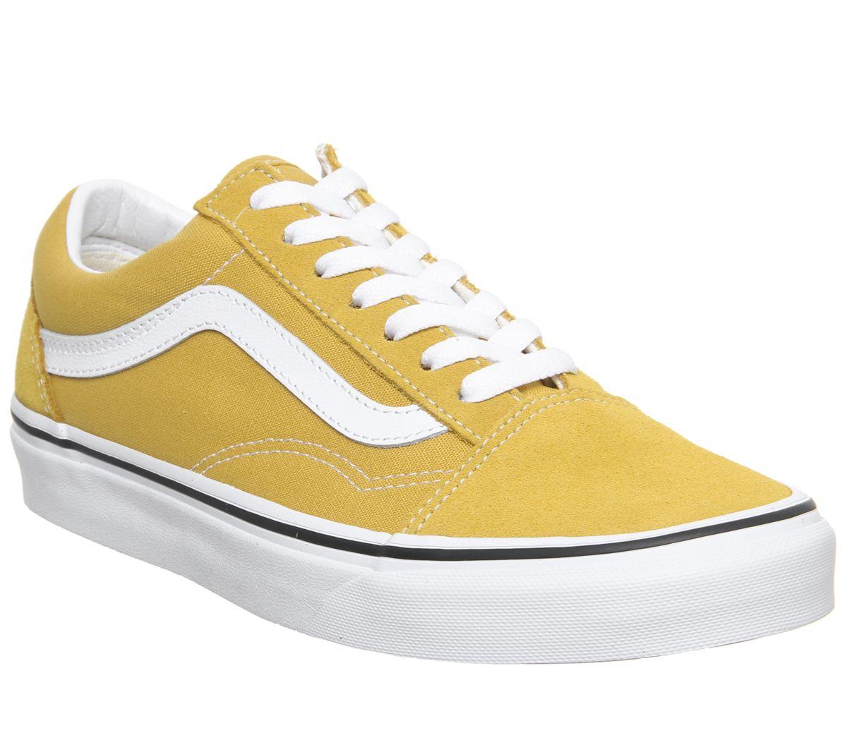 34286dc5d0e Vans Old Skool Trainers Yolk Yellow True White - Unisex Sports