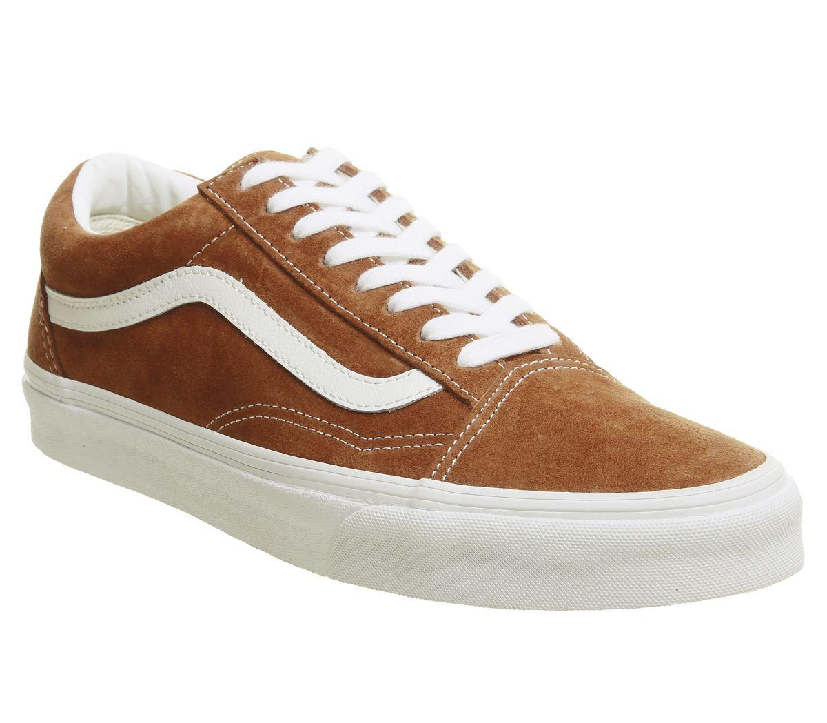 f967f08f47 Vans Old Skool Trainers Leather Brown True White - Unisex Sports