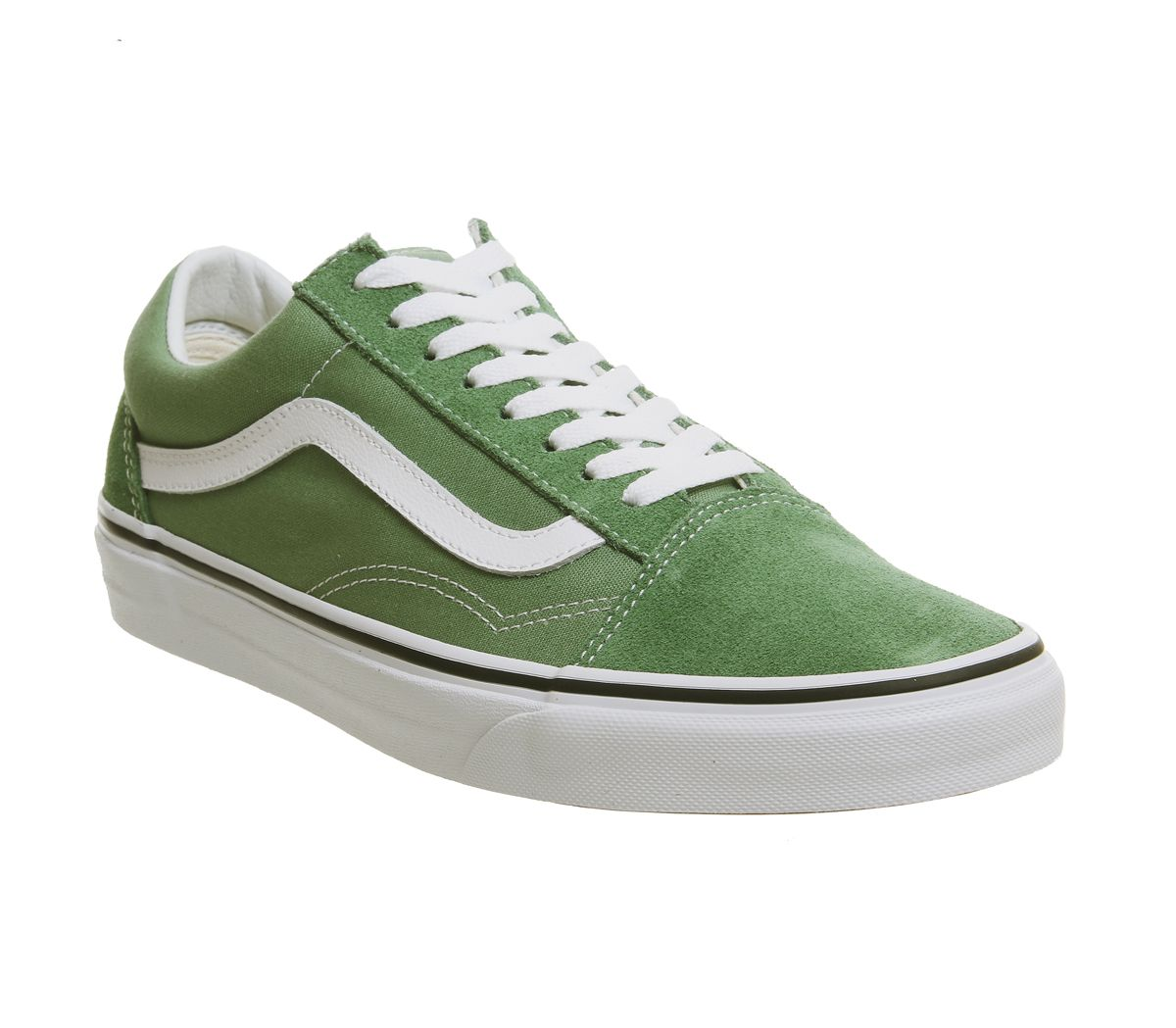 ee97b13701 Vans Old Skool Trainers Deep Grass Green True White - Unisex Sports