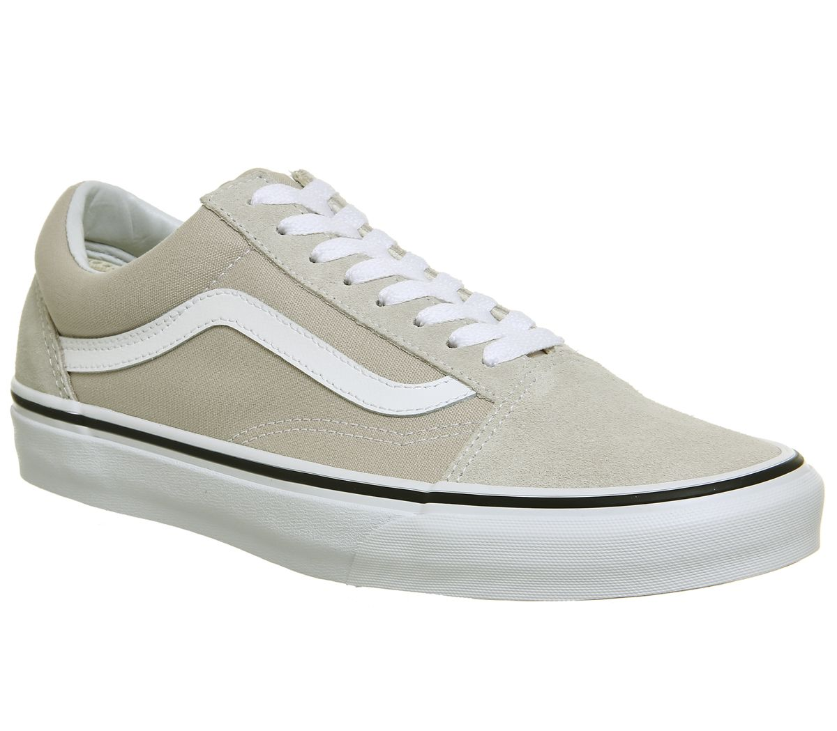 separation shoes 91b4f d8874 Vans Old Skool Trainers Silver White - Unisex Sports