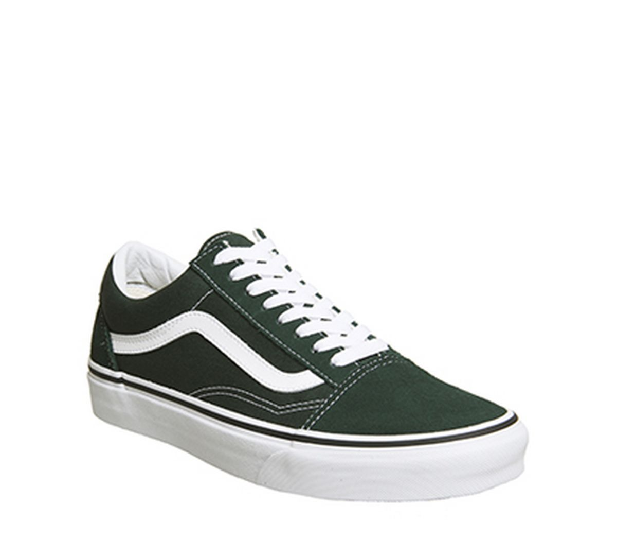 b5017eb860 Vans Old Skool Trainers Scarab Green White - Unisex Sports