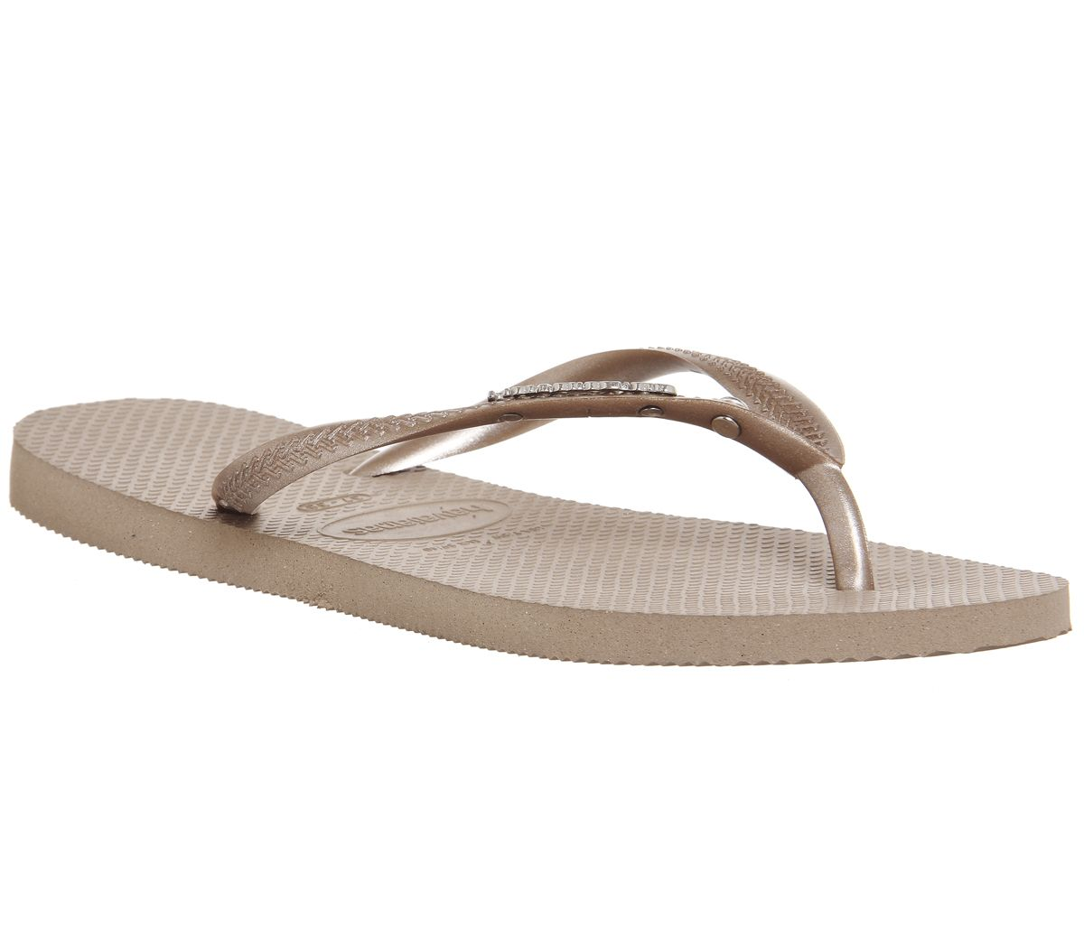 0b67ab55e Havaianas Slim Metal Crystal Flip Flops Rose Gold - Sandals
