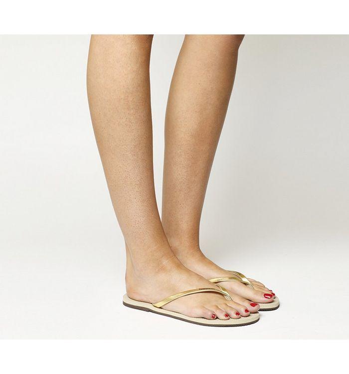 3a96fd894 Havaianas Slim You Metallic Flip Flops Steel Grey - Sandals