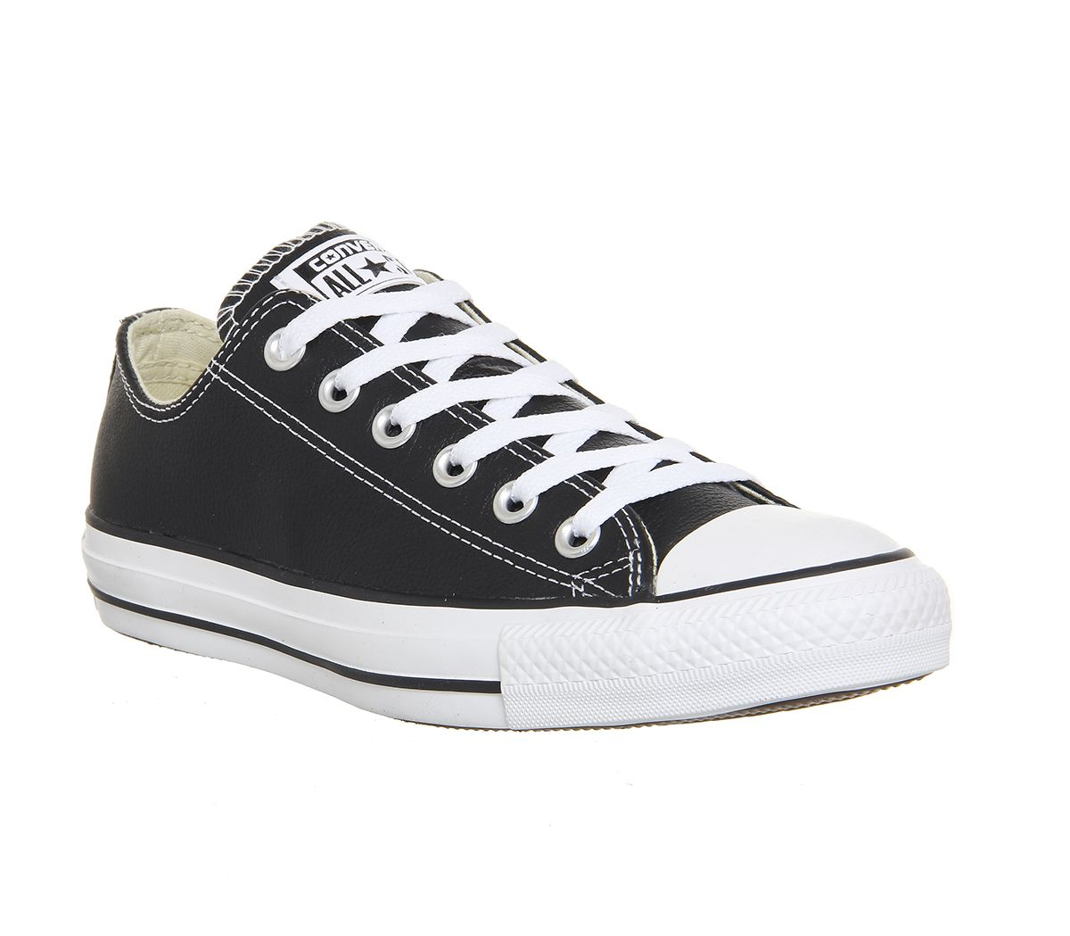 516b6af3ee4d Converse All Star Low Leather Black White Leather - Unisex Sports