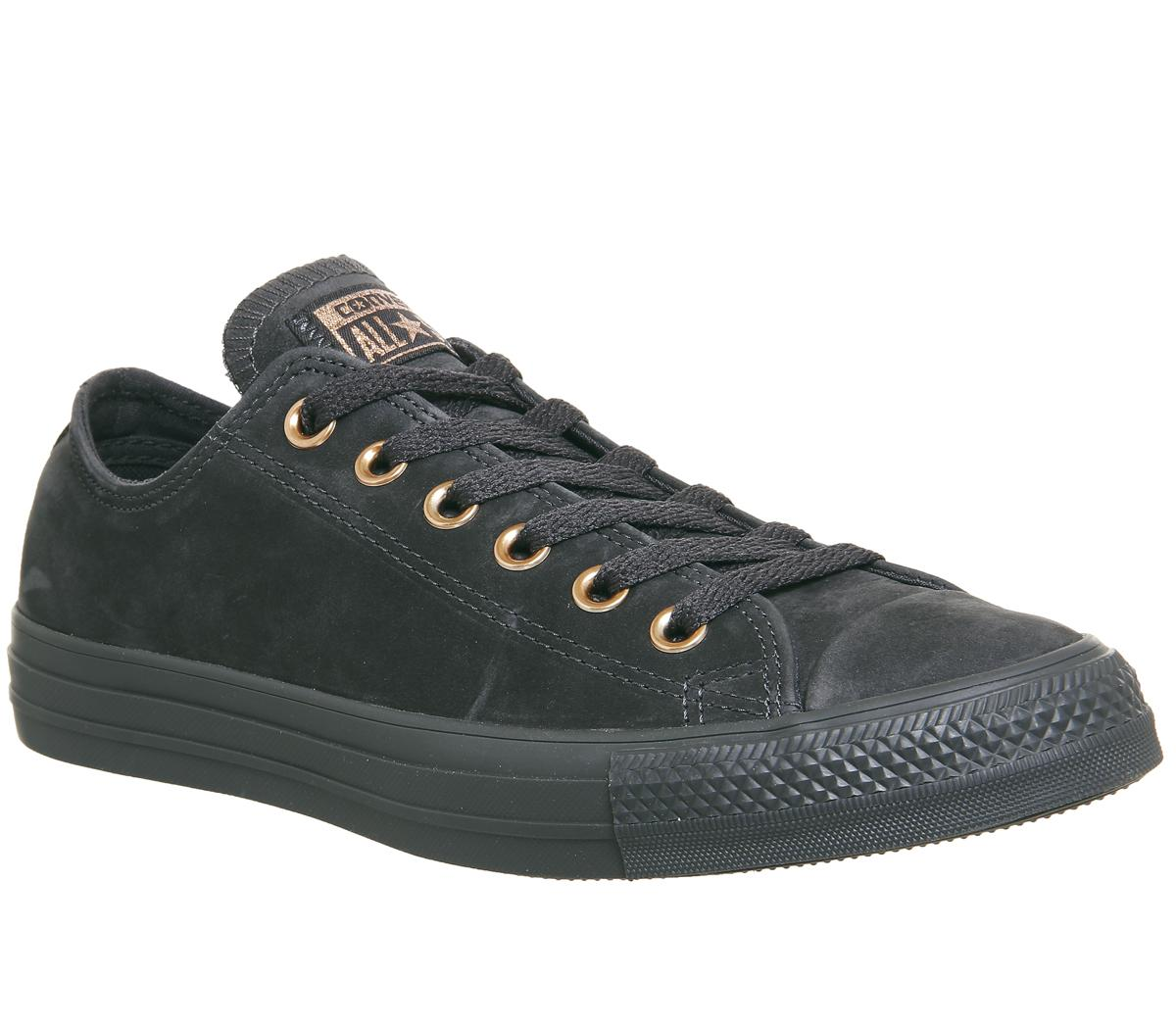 a36c21c3c26b Converse All Star Low Leather Almost Black Rose Gold - Hers trainers