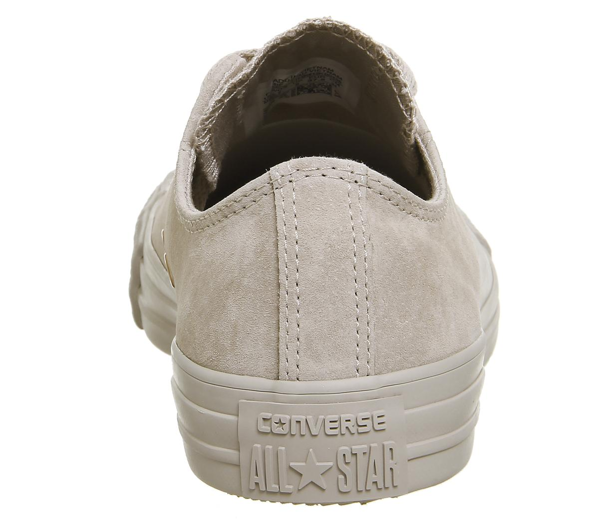 Converse All Star Low Leather Mushroom Blush Gold Sneaker