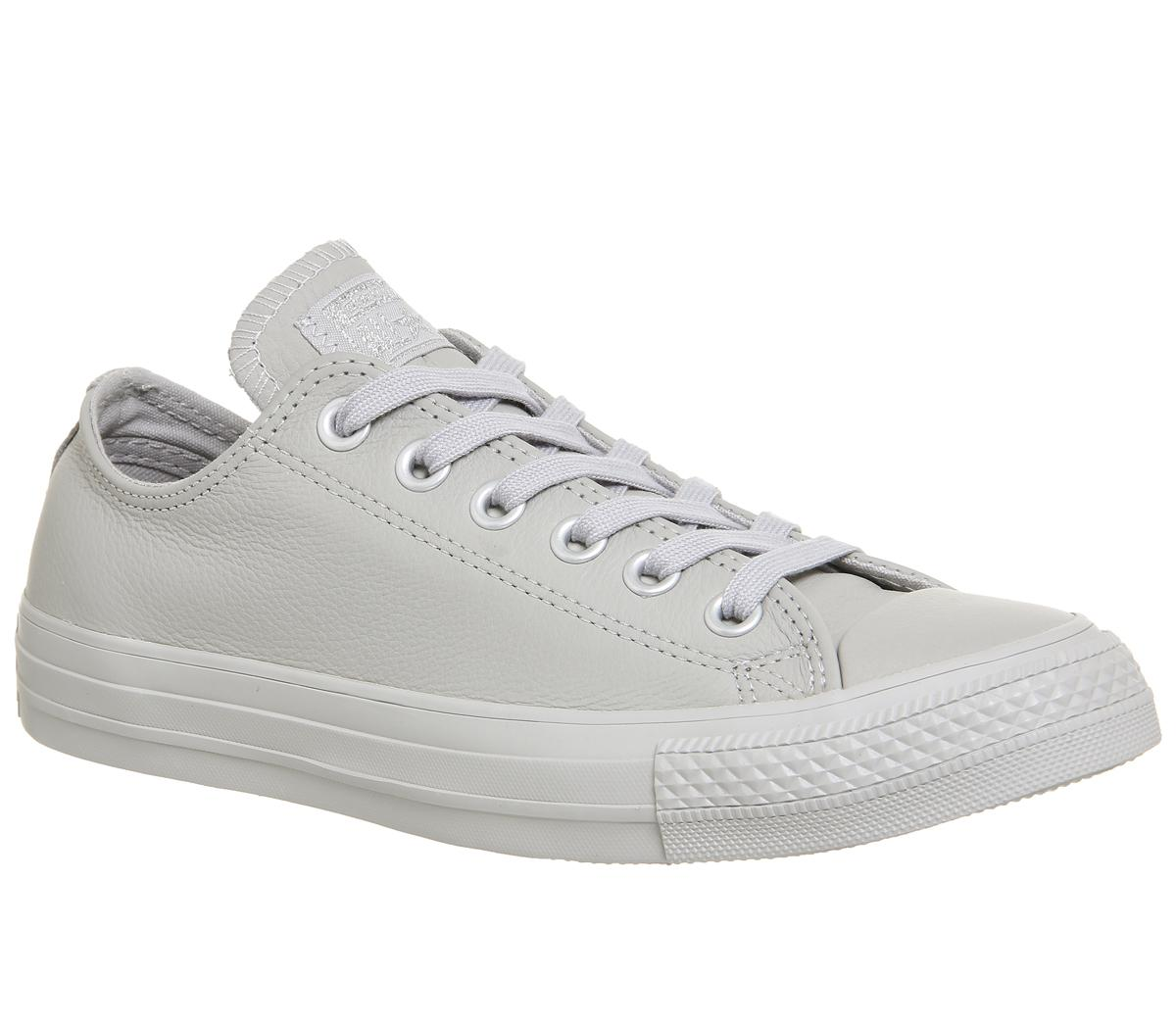 Converse All Star Low Leather Ash Grey Silver Exclusive