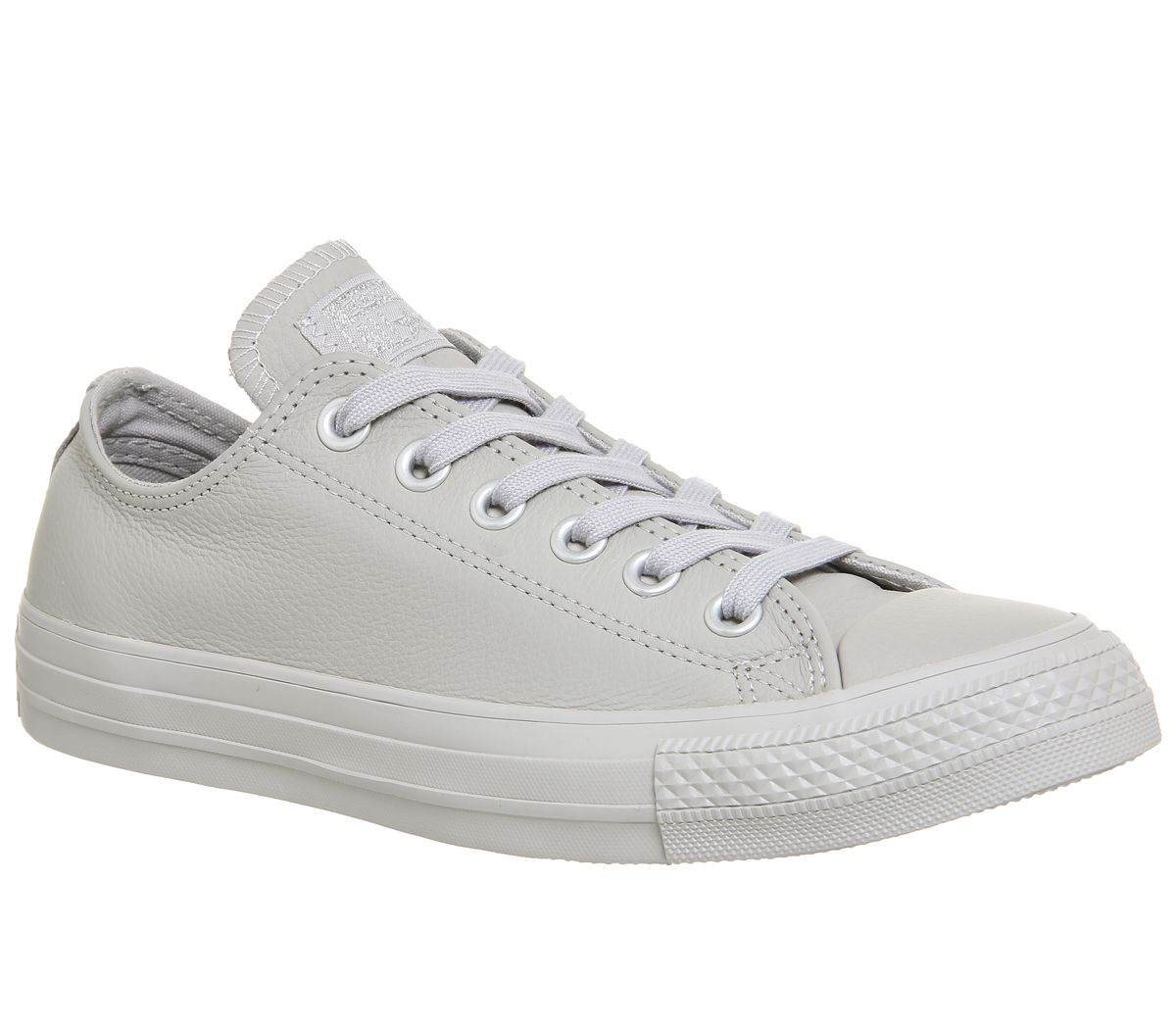 36cd9e10bc97 Converse All Star Low Leather Ash Grey Silver Exclusive - Hers trainers