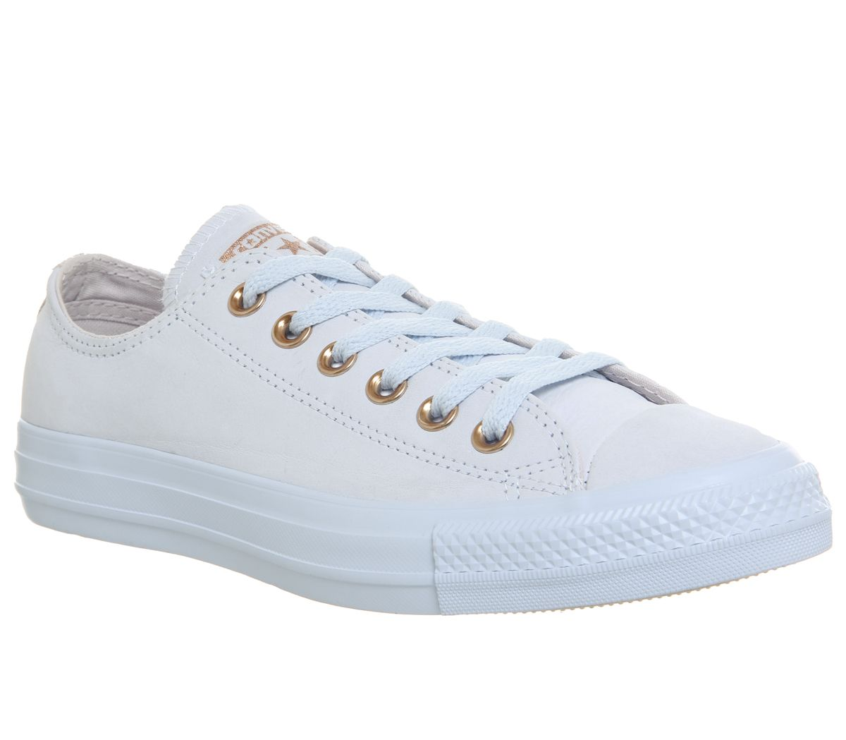 f3484d4ace6f Converse All Star Low Leather Trainers Blue Tint Pale Quartz - Hers ...