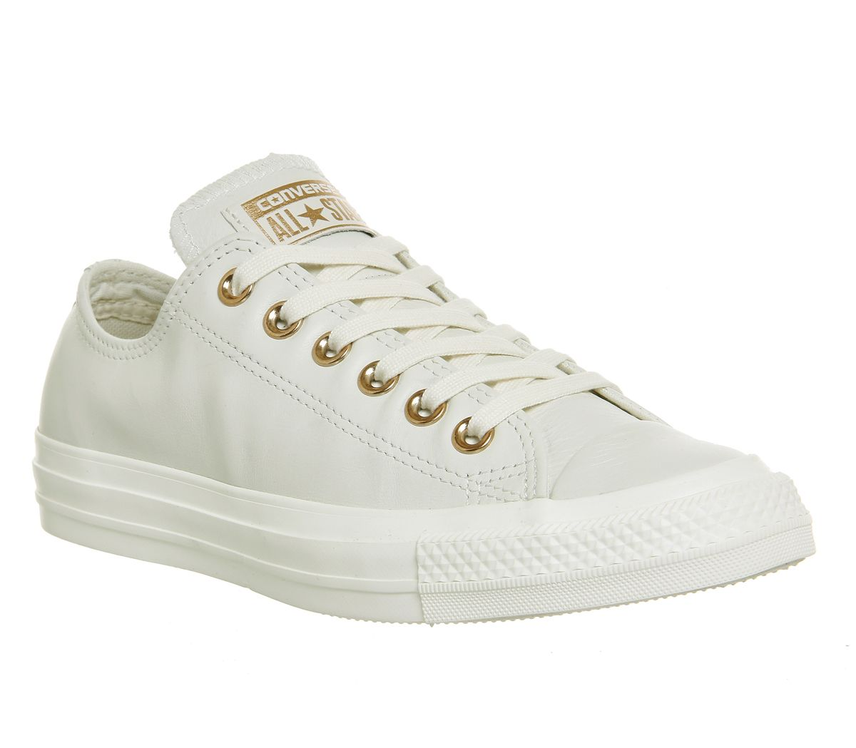 afd2e0cfeb Converse All Star Low Leather Egret Rose Gold Exclusive - Hers trainers