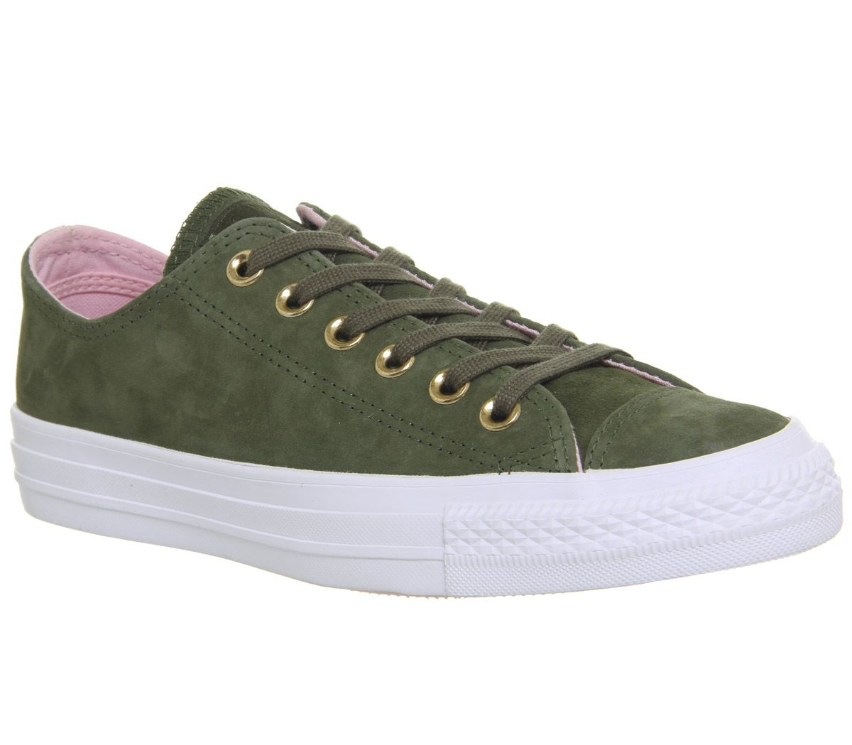 aa74eaafb6aa Converse Allstar Low Leather Herbal Cherry Blossom White - Hers trainers